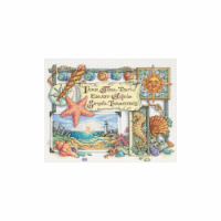Simple Treasures Counted Cross Stitch Kit-14''X11'' 14 Count - 14
