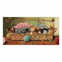 Gold Collection Kitty Litter Counted Cross Stitch Kit-18''X9'' 18 Count