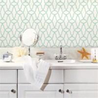 Blue Trellis Peel & Stick Wallpaper - 1
