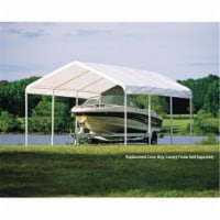 12×20 White Canopy Replacement Cover  Fits 2 in.  Frame