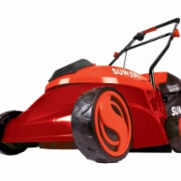 28V  5 Ah Cordless Lawn Mower with Brushless Motor  Red - 14 in.