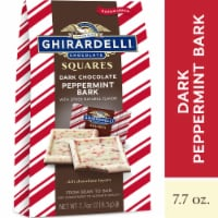 Ghirardelli Limited Edition Dark Chocolate Peppermint Bark Squares