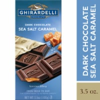 Ghirardelli Dark Chocolate with Sea Salt Caramel Filling Bar