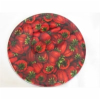 Andreas JO-926 Strawberries Round Silicone Mat Jar Opener - Pack of 3 trivets - 3
