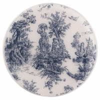 Andreas TRC-167 Toile Blue Casserole Silicone Trivet - Pack of 3 trivets - 3
