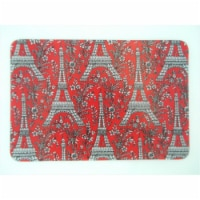 Andreas TRC-281 Eiffel Red Rectangular Casserole Silicone Trivet - Pack of 3 - 3