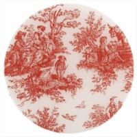 Andreas TRT-154 10 in. Toile Red Round Silicone Trivet - Pack of 3 - 3