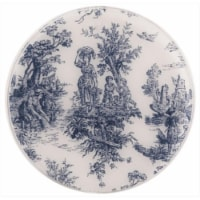 Andreas TRT-167 10 in. Toile Blue Round Silicone Trivet - Pack of 3 - 3