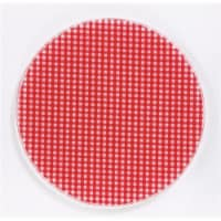 Andreas JO-107 6.5 in. Round Silicone Mat Jar Opener - Red Gingham - Pack of 3 - 3