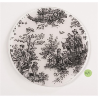 Andreas TR-169 Toile Black Silicone Trivet - Pack of 3 - 3