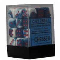 Hasbro CHX26857 Gemini 7 12mm D6 Astral Blue And White With Red Dice