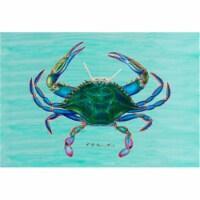 Betsy Drake DM004 Female Blue Crab Door Mat 18''x26''