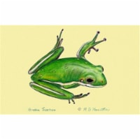 Betsy Drake DM040 Green Tree Frog Door Mat 18''x26''