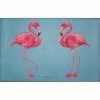 Betsy Drake DM084G Flamingo Door Mat 30''x50'' - 1