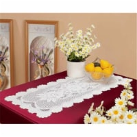 Tapestry Trading 558W1655 16 x 54 in. European Lace Table Runner, White - 1