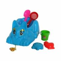 Sunshine Trading YS-1213 Wheeled Kitten Sand Toy - 7 Piece Set
