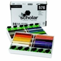 Prismacolor Scholar Non-Toxic Smooth Colored Pencil Classroom Set With 12 Sharpener, Assorted - 1