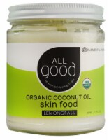 Elemental Herbs  All Good Organic Coconut Oil Skin Food Lemongrass