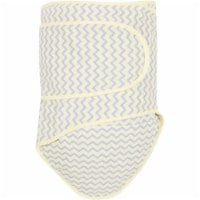 Miracle Blanket 46922 Chevrons With Yellow Trim Baby Swaddle Blanket