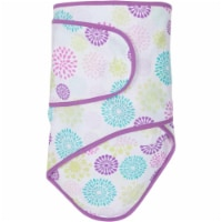 Miracle Blanket 15144 Colorful Bursts With Purple Trim Baby Swaddle Blanket