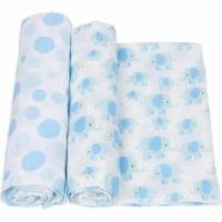 Miracle Blanket 20544 Pink Elephants Baby Swaddle Blanket