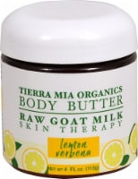 Tierra Mia Organics  Raw Goat Milk Body Butter Lemon Verbena