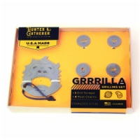 Zootility 8028766 Hunter & Gatherer Grrrilla Stainless Steel Grill Scraper & Meat Charms - 5
