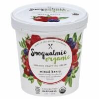 Snoqualmie Mixed Berry Organic Ice Cream - 1 pt
