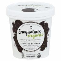 Snoqualmie Cookies N Cream Organic Ice Cream - 1 pt