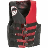 CWB Connelly Mens Small Tunnel 4-Belt Nylon Life Vest Jacket, Red and Black