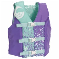 CWB Connelly Coast Guard Approved Nylon Youth Life Jacket PFD, Purple/Light Blue - 1 Unit