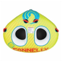 CWB Classic Wing 2 Durable Inflatable Towable 2 Rider Donut Water Tube, Yellow - 1 Unit