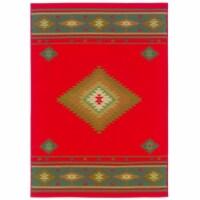 Oriental Weavers Hudson 087K1 10x13  Rectangle - Red/ Green-Polypropylene - 1