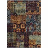 Oriental Weavers Andorra 7137A 6x9  Rectangle - Multi/ Blue-Nylon/PolyP - 1