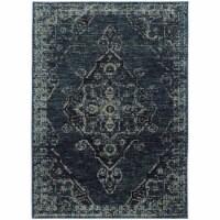 Oriental Weavers Andorra 7135F 6x9  Rectangle Rug - Blue/ Blue-Nylon/PolyP - 1