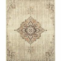 Oriental Weavers Pasha 072J2 2x3  Rectangle Rug - Ivory/ Brown-Polypropylene - 1