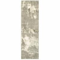 Oriental Weavers Rowan 2067W 2x8  Runner - Ivory/ Grey-PolyP/Polyester