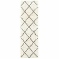 Oriental Weavers Henderson 090W9 2x8  Runner - Ivory/ Grey-Polypropylene