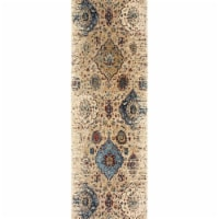 Oriental Weavers Empire 028W4 2x8  Runner - Ivory/ Blue-PolyP/Polyester - 1