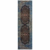 Oriental Weavers Empire 4440L 2x8  Runner - Blue/ Navy-PolyP/Polyester