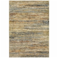 Oriental Weavers A8037J100170ST Atlas Indoor Casual Abstract Rectangle Area Rug, Gold - 3 ft.