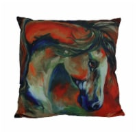 Marcia Baldwin Mustang West Colorful Throw Pillow 16 in. - Small