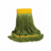 EcoMop Looped-End Mop Head, Recycled Fibers, Large Size, Green 1200LEA