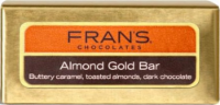 Fran's Chocolates Dark Chocolate Almond Gold Bar