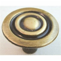 Ultra 1-.13 in. Antique Brass Traditions High Density Zinc Knob  41658