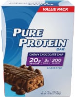 Pure Protein Chewy Chocolate Chip Protein Bars 6 Count