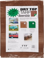 Foremost Tarp Co. Dry Top® Reversible Tarp - Brown/Green