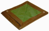 Foremost Tarp Co. Dry Top Reversible Tarp - Brown/Green - 12 x 16 ft