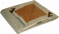 Foremost Tarp Co. Dry Top Heavy-Duty Reversible Tarp - Silver/Brown