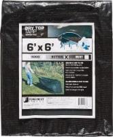Foremost Tarp Co. Dry Top Drawstring Tarp - Black